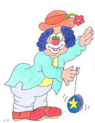 Bozo Clown Coloring page free 