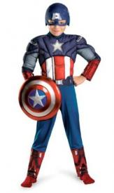 Avengers Captain America Muscle Light Up Costume