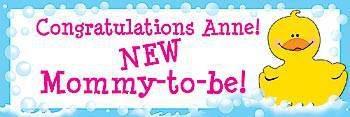 Baby Shower Personalized Banner