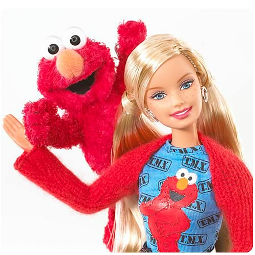 Image result for elmo and barbie