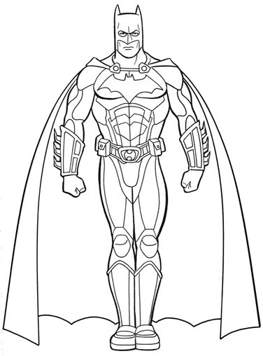 My Family Fun - Batman coloring pages Print and color your superhero!