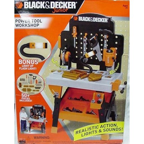 my family fun - black and decker jr power workshop workbench ...