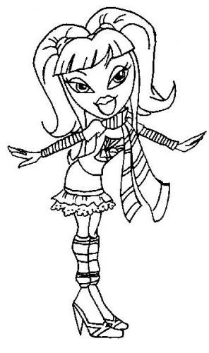 Bratz Doll Coloring Pages