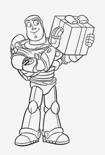 Buzz Lightyear Christmas Coloring Pages Picture 1