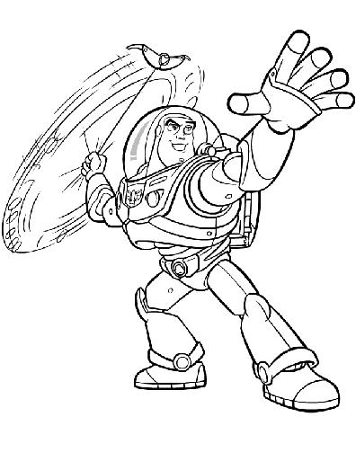 Buzz Lightyear Coloring page.