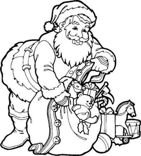 christmas coloring pages santa claus - photo#11