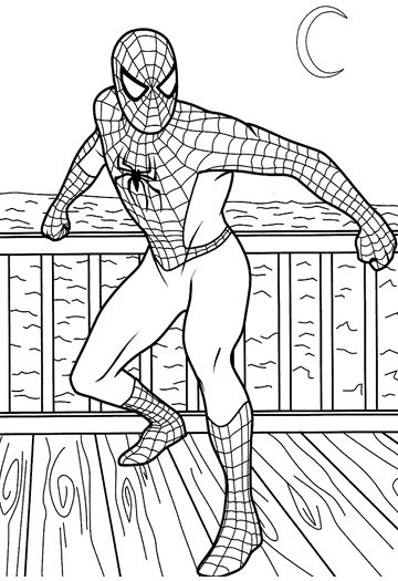 My family fun spider man superhero coloring pages for - Superhero dessin ...