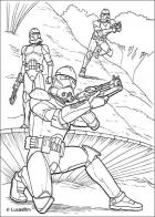 Coloring pages Star Wars Attack of the Clones