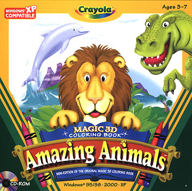 My Family Fun - Crayola Magic 3D Coloring Book Amazing Animals ...