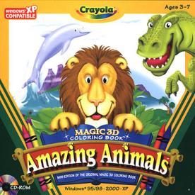 Crayola Magic 3D Coloring Book Amazing Animals