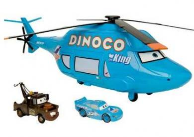  Dinoco Helicopter Carrying Case Cars Play Set 