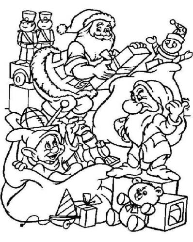 disney santa claus coloring pages - Santa Claus Coloring Pages