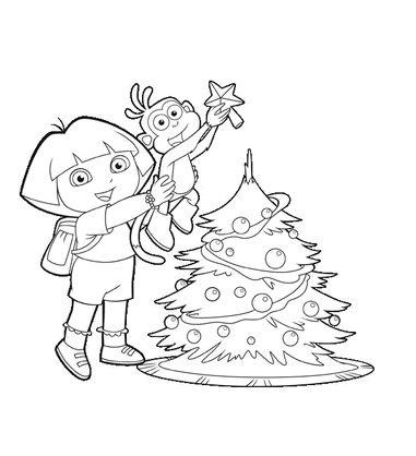Dora and Boots Christmas printable