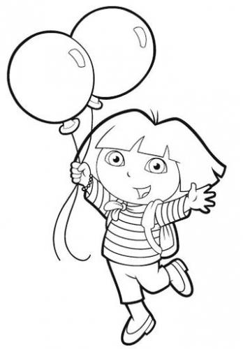 Dora Jump Coloring