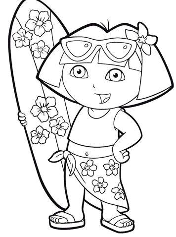 Dora on the beach