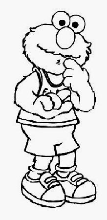 Sesame Street Coloring Pages on My Family Fun   Elmo Coloring Pages Elmo Plays The Basketball
