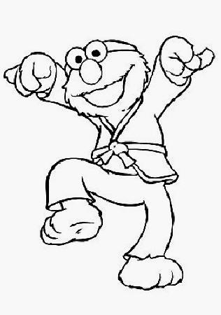 Elmo Judo printable page