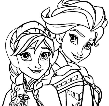 Anna And Elsa Coloring Pages Simple My Family Fun  Anna And Elsa Coloring Pages It's A Beautiful Day Review