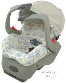 Embrace 5 Infant Car Seat Alphabet Soup