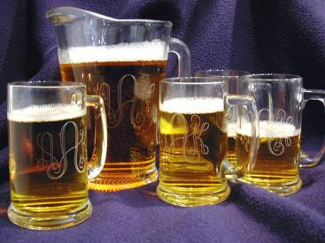 Engraved 5 Piece Beer Bar Set