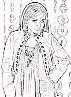 Hannah Montana Coloring Page