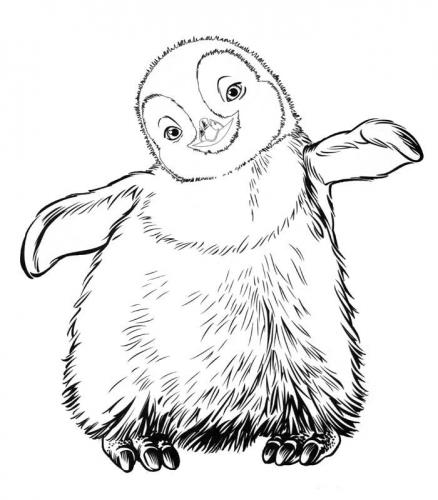 happy feet printable coloring pages - photo#8