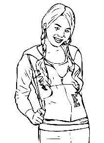 highschool musical coloring pages sharpay | My Family Fun - High School Musical