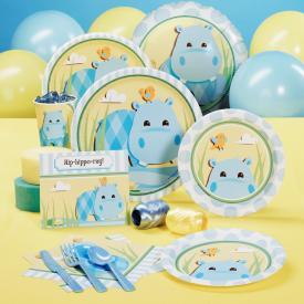 Hippo Blue Baby Shower