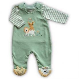 Lion Tiger Footed Overall Set