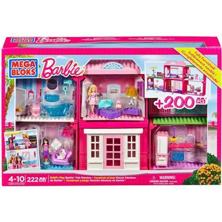 My Family Fun Mega Bloks Barbie Building Set Fab Mansion