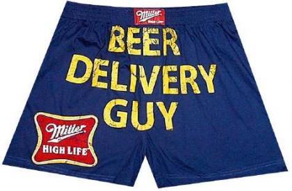 Miller Beer Beer Delivery Guy boxers