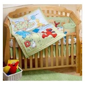 My Family Fun - Sesame Street Crib Bedding Have a good ...