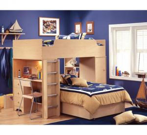Shaker Style Kids Loft Bed