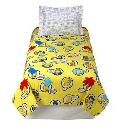 My Family Fun Simpsons Twin Comforter The Best Products Kids Bedding The Simpsons
