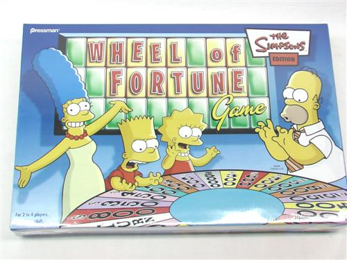 the simpsons wheel of fortune game