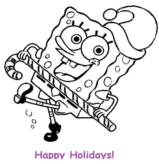 My Family Fun Spongebob Christmas Coloring Pages Coloring pages