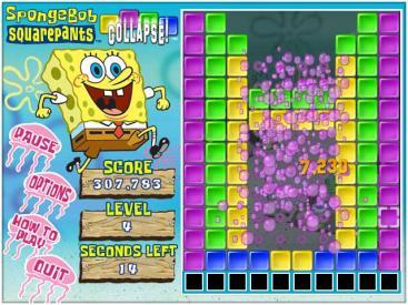 SpongeBob SquarePants Collapse Game