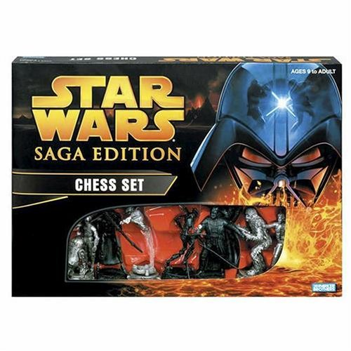 My Family Fun - Star Wars Saga Edition Chess Set Collectible characters from all six episodes Chess