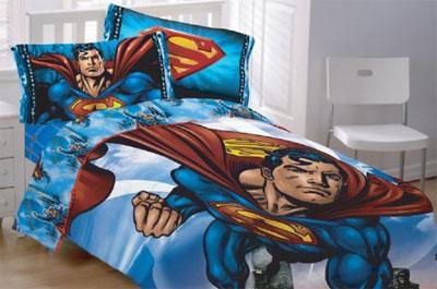 Superman flying high bedding
