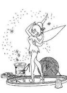 Tinker bell dancing coloring