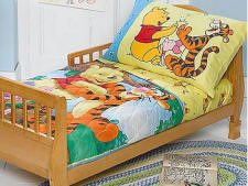 my family fun winnie the pooh toddler bedding set for toddlers 4 pc