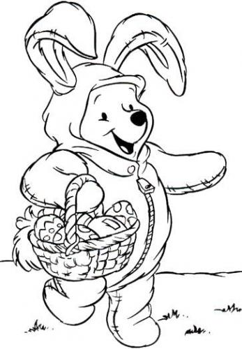 Winnie the Pooh Easter Printable pages