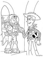  Woody Buzz Lightyear coloring pages 